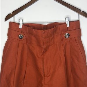 ZARA WOMAN Burnt Orange High Waist Pants M